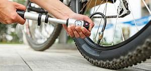 Fahrrad aufpumpem
