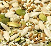 Samen und Kerne haben einen sehr hohen Zinkgehalt.