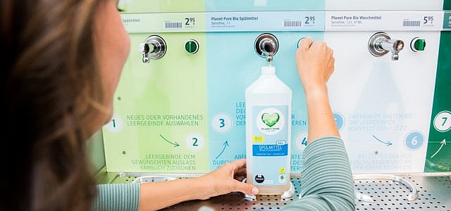 dm abfüllstation plastik waschmittel spülmittel