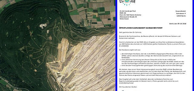 hambacher Forst Ecosia kaufen rwe