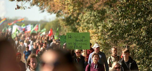 Hambacher Forst Protest Waldspaziergang