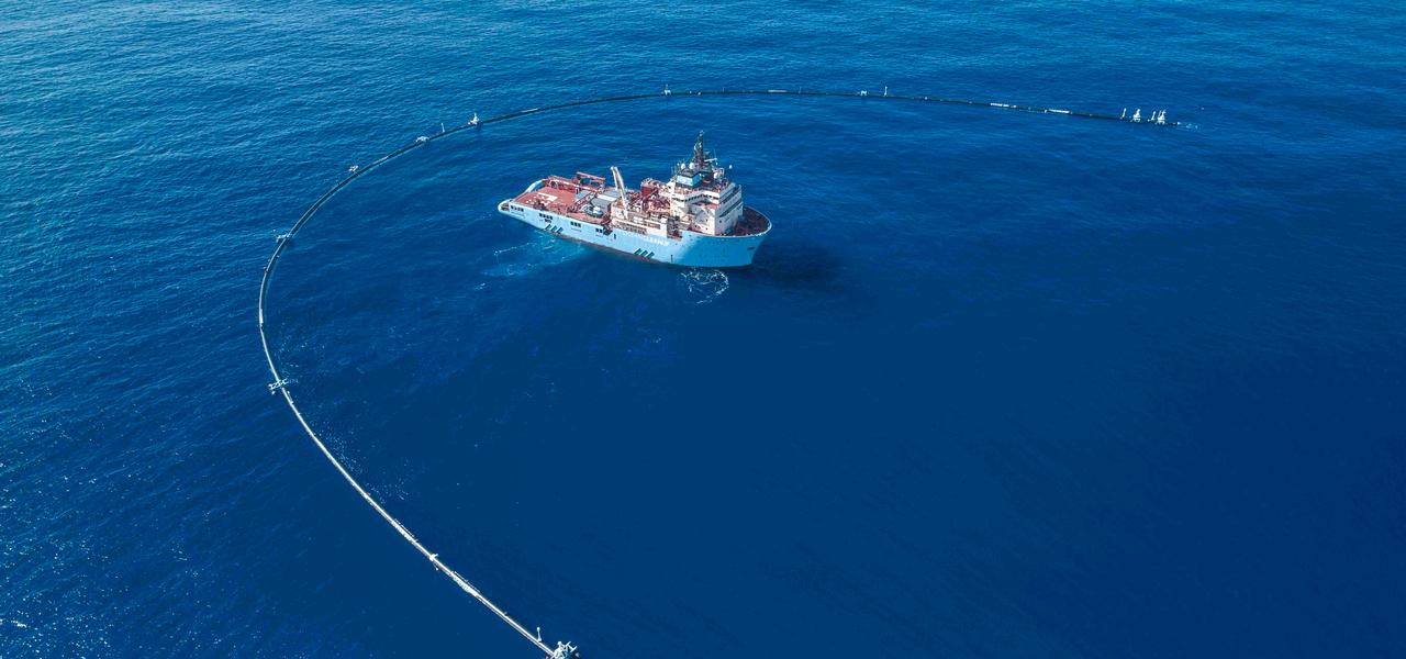 Meeresstaubsauger The Ocean Cleanup.