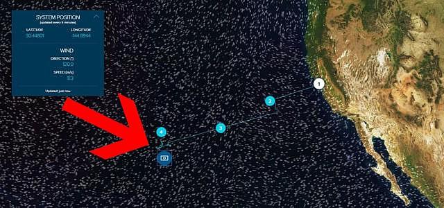 The Ocean Cleanup interaktive Karte