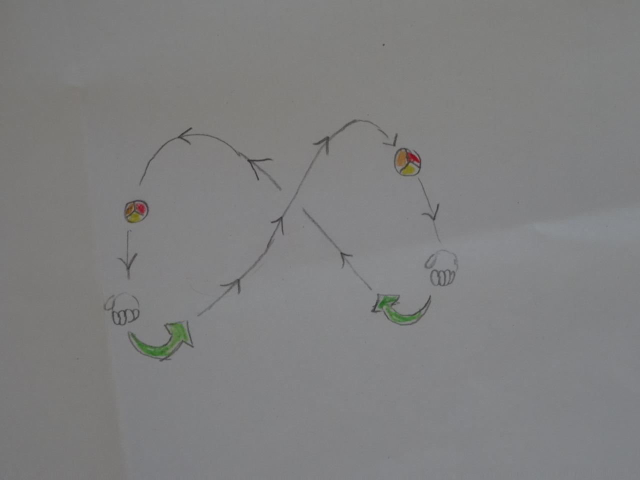 So sollte die Wurfbahn eines Balles aussehen