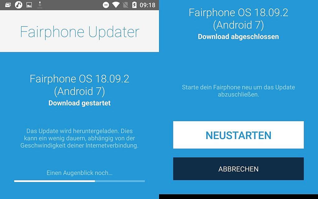Fairphone 2 auf Android 7 Update