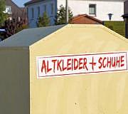 Kleider spenden Altkleider Container