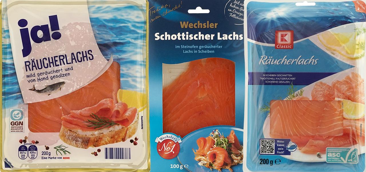 Öko-Test Lachs: krebsverdächtige Konservierungsmittel, Überfischung, eklige Aquakulturen