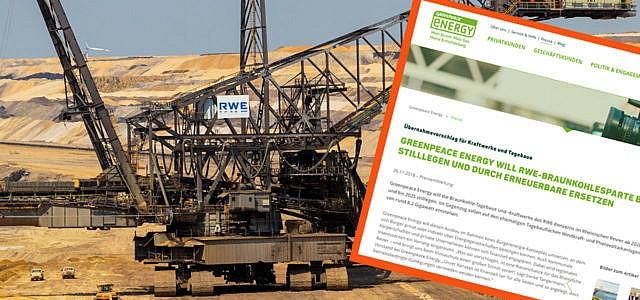 Greenpeace Energy will RWE das Rhenische Braunkohlerevier abkaufen
