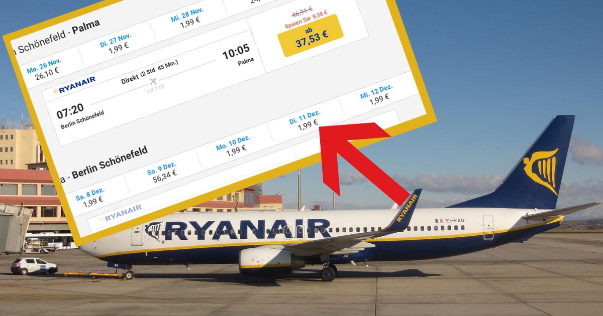 Unfassbar: Bei Ryanair gibt es gerade Flüge für 1,99 Euro nach Mallorca - Utopia.de