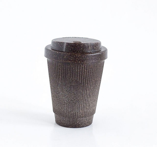 Kaffeesatz-Kaffeebecher