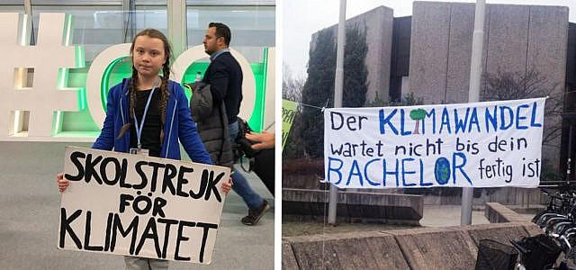 Schüler Protest Demonstration Klimaschutz Greta Thunberg