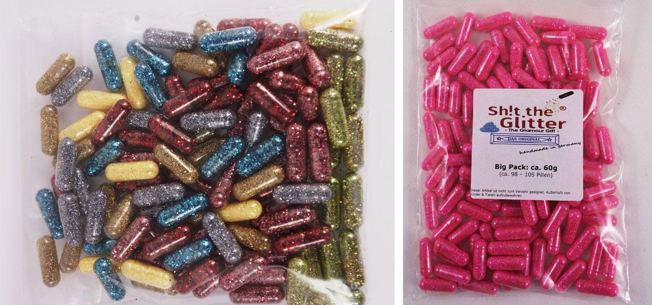 """Absurdes Produkt auf Ebay und Amazon: """"Shit the Glitter""""-Pillen"""
