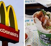 McDonalds Veggie-Wraps mit Fleisch