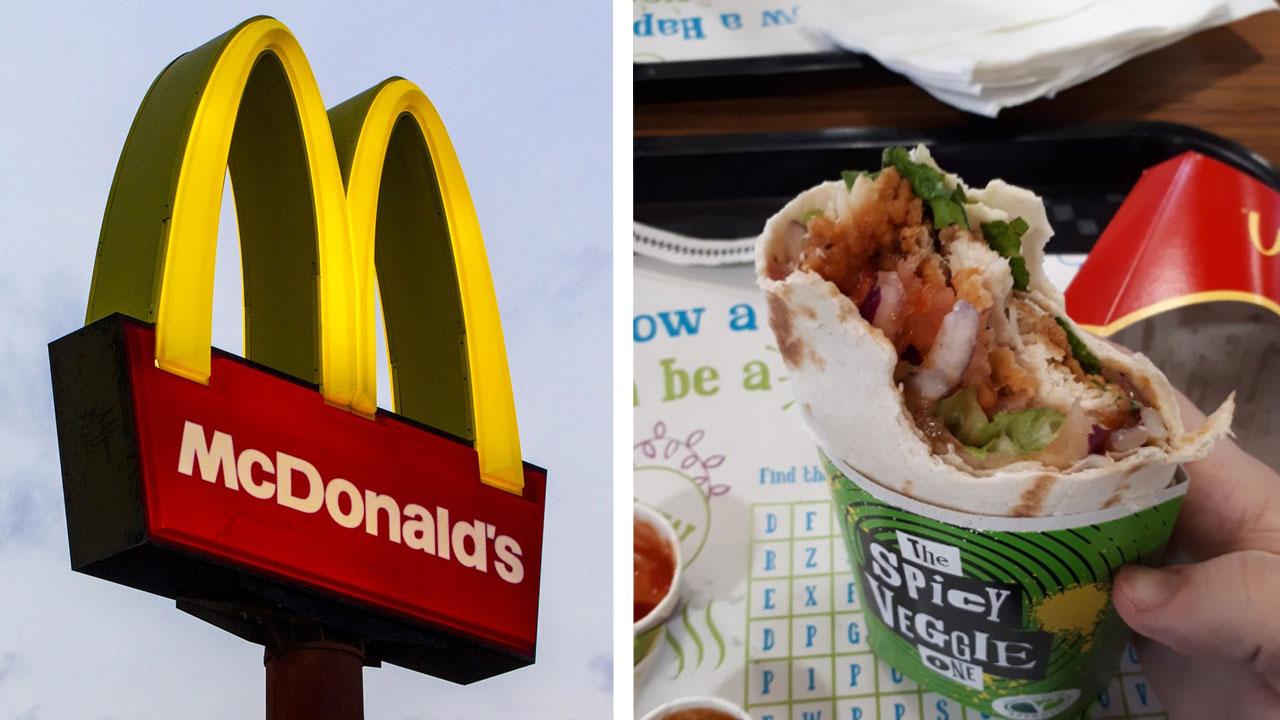 McDonald's führt Veggie-Wraps ein – und serviert sie reihenweise mit Fleisch