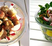 Essen für unterwegs Salat