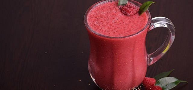 himbeer-smoothie
