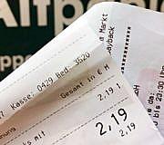 Kassenzettel Kassenbon Altpapier