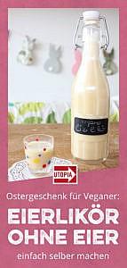 Ostergeschenk: Ostern veganer Eierlikör