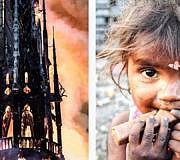 Notre-Dame hungernde Menschen