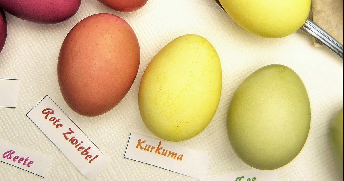 Eier färben mit rote bete