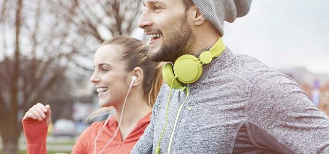 Sport Paar Rennen Jogging