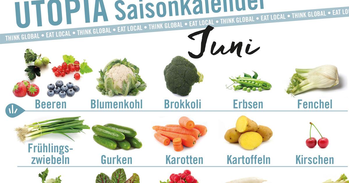 Saisonkalender: Das gibt's im Juni