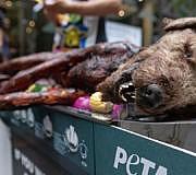 Mit einer ähnlichen Aktion informierte PETA in Sydney über die Thematik.