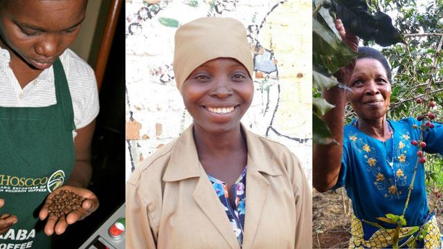 Kaffee Kooperative aus Frauenhand