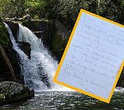 Nationalpark USA Mädchen Brief Stein
