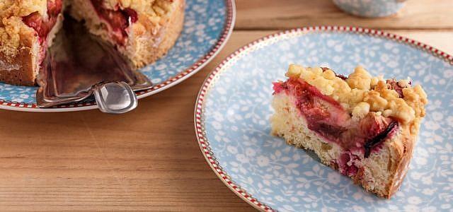 pflaumenkuchen mit streusel