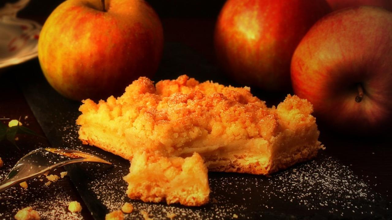 Apfel-Streuselkuchen vom Blech: ein schnelles Rezept