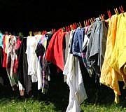 Polyester waschen
