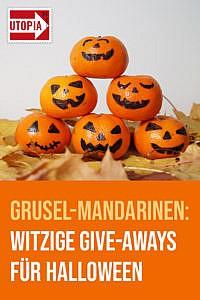 Grusel-Mandarinen: Witzige Give-aways für die Halloween-Party