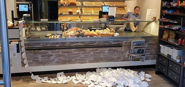 Bäcker Kassenbons Protest