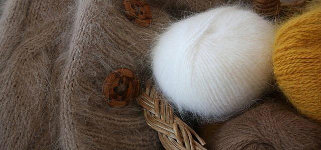 Angora-Wolle als Garn