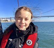 Greta Thunberg, Ankunft, Lissabon