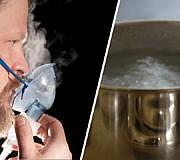 inhalieren bei erkältung Inhalation Inhalieren Wasserdampf Vernebler Kochsalz