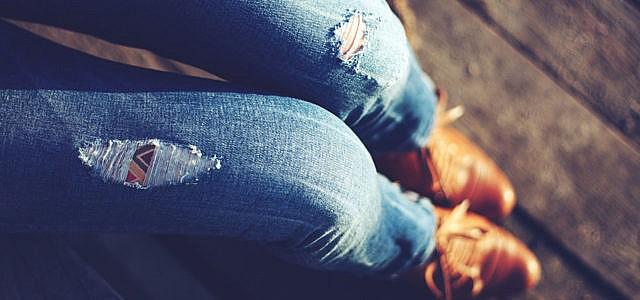 destroyed jeans zerissene jeans mit löchern