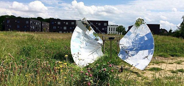 Solarkochen mit Reflektorkocher