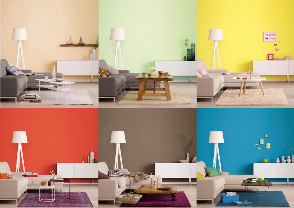 Ein Zimmer, sechs Stimmungen – Farbe ist nicht nur Geschmackssache, sondern hat Auswirkungen auf unser Wohlbefinden.