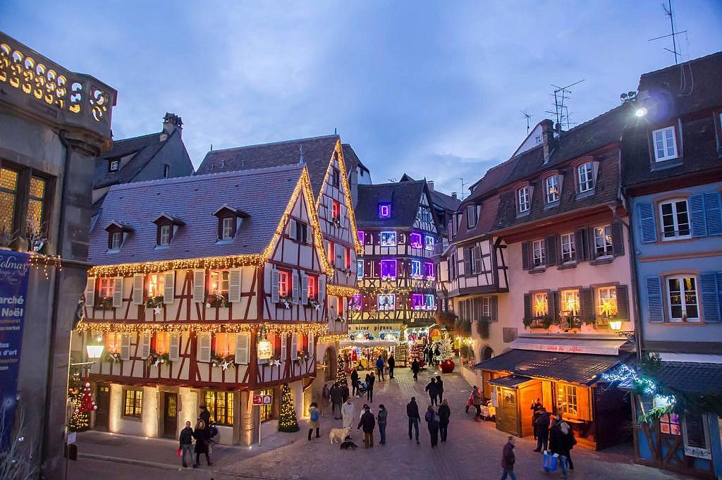Weihnachtsstimmung in Colmar, Frankreich