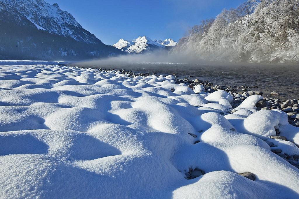 Der Lech im Winter