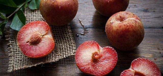 Pflaumen Crumble Crisp Herbst Rezept vegan