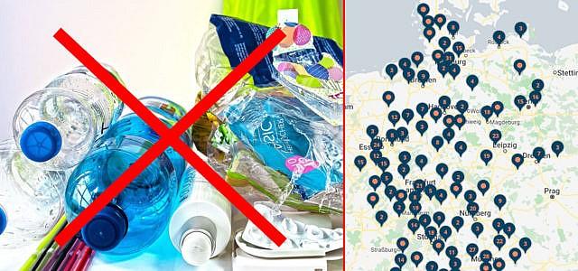 Reuse Revolution Map, Zero Waste Shopping