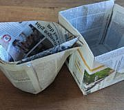 Biomüllbeutel aus Zeitungspapier falten