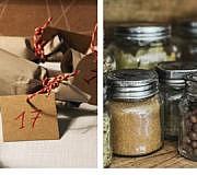 Adventskalender selber basteln aus Klopapierrollen oder Schraubgläsern