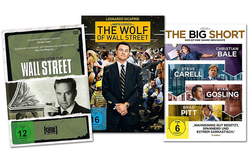 Wall Street, Wolf of Wall Street, Big Short