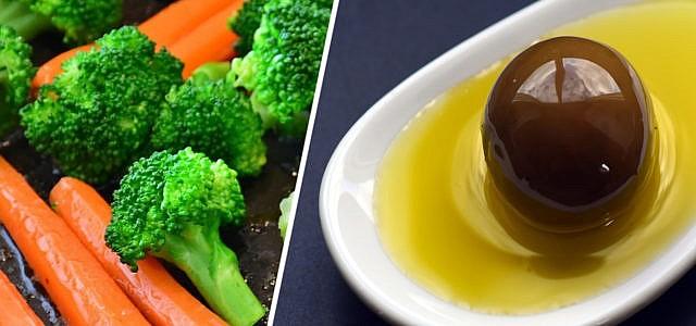 Olivenöl erhitzen