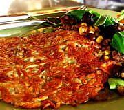 Kürbis-Rösti mit Salat