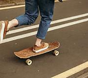 Skateboard nachhaltiges Holz
